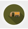 Travel trailer flat icon vector image vector image