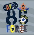 vintage air force typography vector image vector image