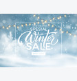 winter sale background template christmas