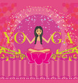 yoga girl in lotus position abstract card vector image