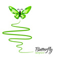 Diamond butterfly flying up vector image