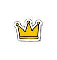 crown doodle icon vector image