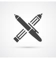 Pen and Pencil black icon vector image