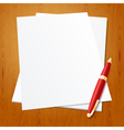 Pen with paper vector image