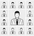 out line business man icons set vector image