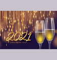 2021 golden lettering new year background with a vector image vector image