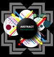 abstract of modern geometric in composition vector image vector image