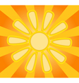 Abstract yellow paper sun vector image vector image
