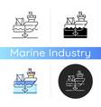 anchored ship icon vector image