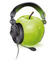 apple headphones vector image vector image