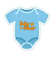 baby shower label with a shirt vector image vector image