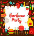 barbecue party paper concept vector image