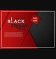 black friday sale banner layout graphic template vector image vector image