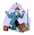 businessman found treasure business people concept vector image vector image