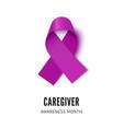 caregiver awareness ribbon vector image