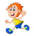 Cartoon little boy waving hand vector image vector image