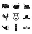 cheese icons set simple style vector image vector image