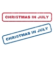 Christmas In July Rubber Stamps vector image