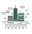 City architecture Urban landscape with skyscraper vector image vector image