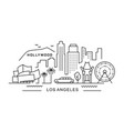 city los angeles in outline style on white vector image vector image