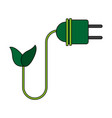 color image cartoon green plug electricity vector image vector image
