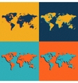 Color World Maps Flat style vector image