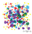 colorful spots and sprays on a white used to vector image