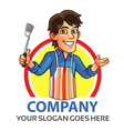 Cooking Man Logo vector image vector image