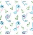 cute cartoon dinosaurs seamless pattern vector image