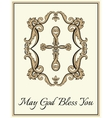 Decorative Christian cross vector image