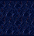 decorative net lines blue seamless pattern vector image vector image