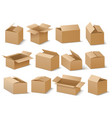 delivery and shipping carton package brown vector image vector image