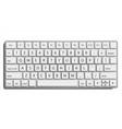 desktop keyboard classic top view modern vector image