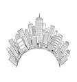 drawing generic modern high rise buildings vector image