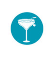 drinks cocktail with salt cherry and straw vector image vector image