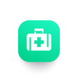 first aid kit icon medicine chest symbol vector image