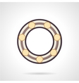 Flat color ball bearing icon vector image vector image