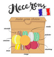 french macaroons french vector image