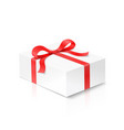 gift mobile phone box with red color bow knot vector image vector image