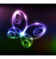 glowing butterfly vector image vector image