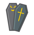 halloween coffin filled outline icon halloween vector image vector image