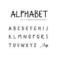 hand drawn alphabet sans serif font vector image