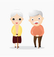 happy old man and woman with glasses and walking vector image