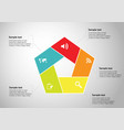 infographic pentagon template with sections filled vector image vector image