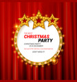 invitation merry christmas party 2019 vector image vector image