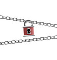 lock with keyhole and metal chain vector image