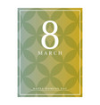 march 8 international women day paper cutout vector image