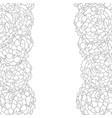 marigold border outline vector image vector image