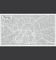moscow map in retro style hand drawn vector image vector image