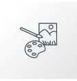 painting icon line symbol premium quality vector image